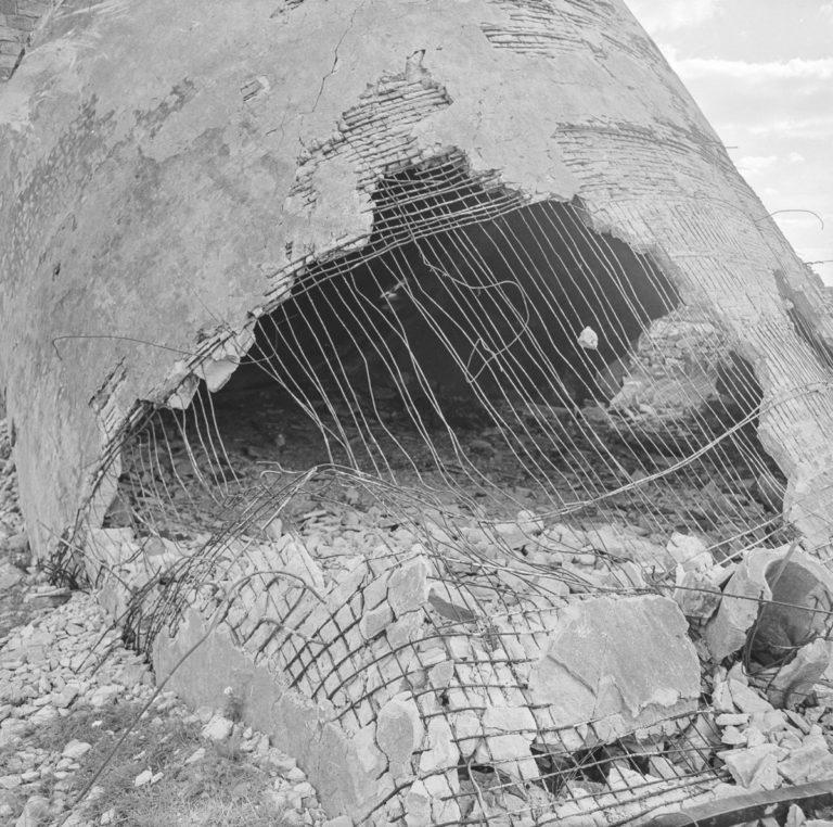 Bliżyn – resztki wieży fabrycznej