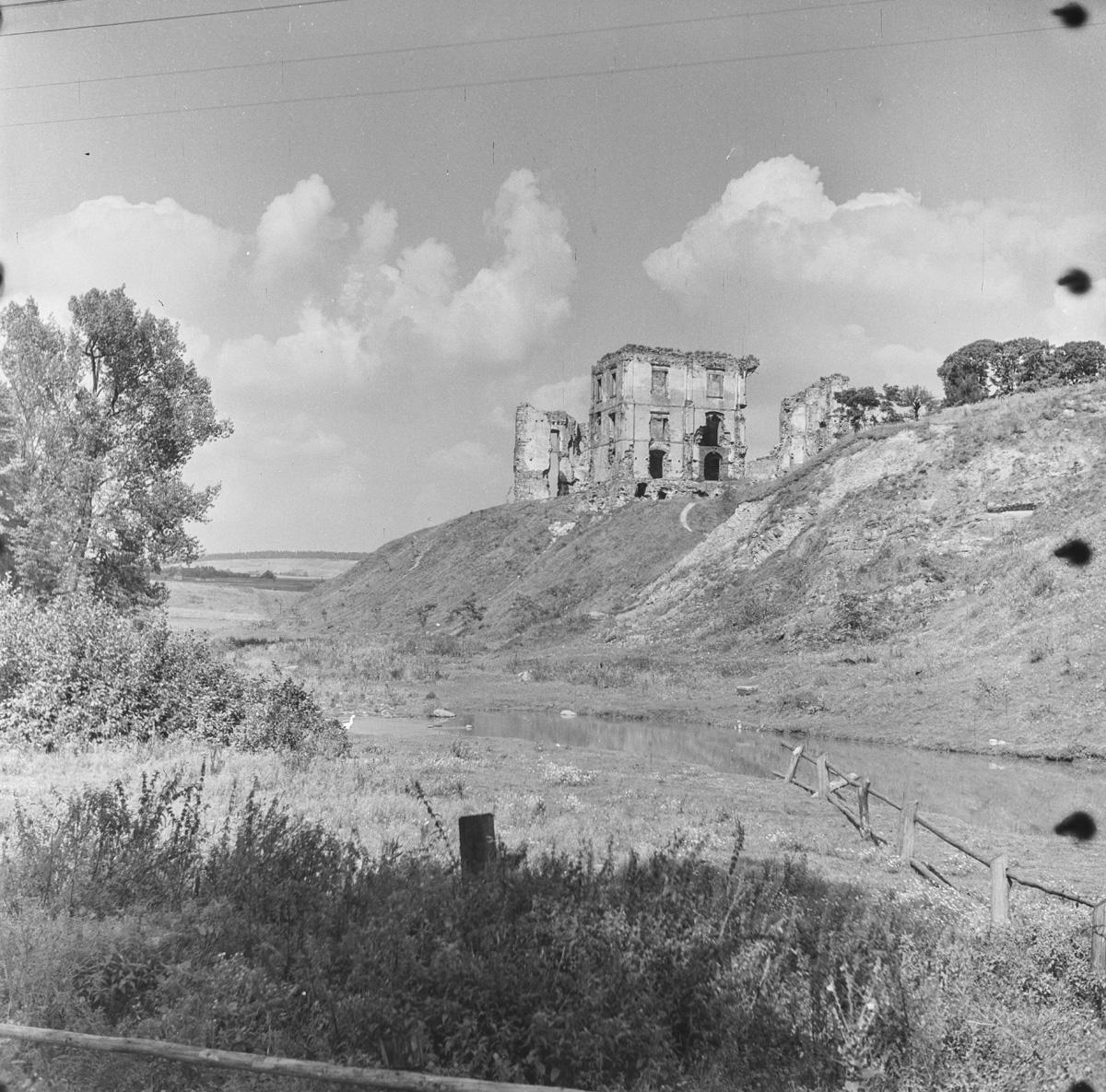 Widok na zamek od strony rzeczki
