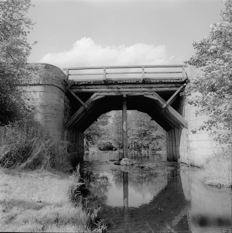 Bridge on supports from Staszic times