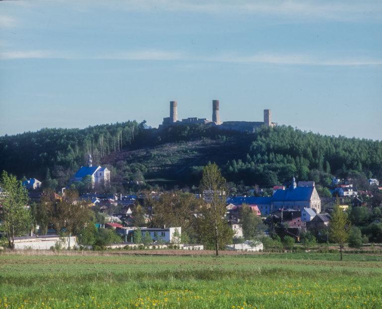 Chęciny from Mount Zalejowa