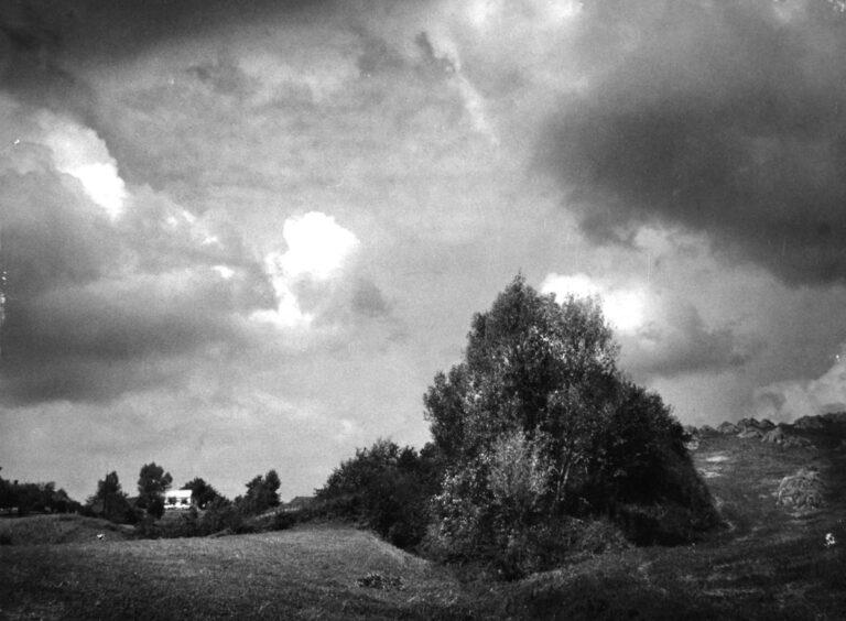Krajobraz z domkiem