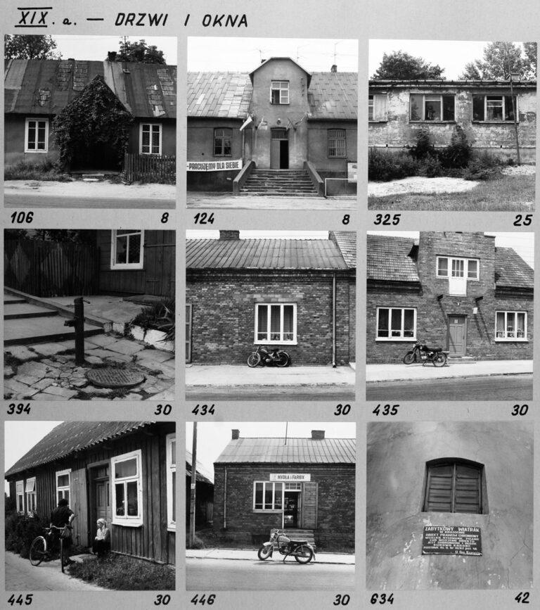 XIX a. – Drzwi i okna