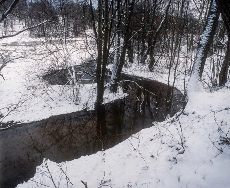 The River Bobrza Zagnańsk near Bartek Oak